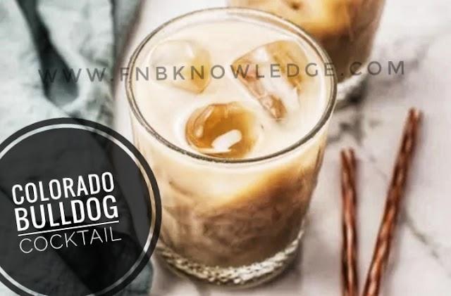 Colorado Bulldog cocktail (My bar)