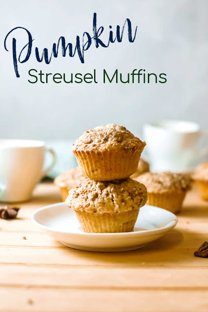 These yummy pumpkin muffins have a buttery streusel on top. They are a fabulous way to start your day and will go perfectly with your favorite fall coffees and teas.