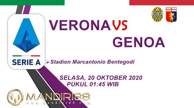 Prediksi Hellas Verona Vs Genoa, Selasa 20 Oktober 2020 Pukul 01.45 WIB