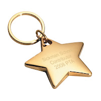 Personalized Star Key Ring