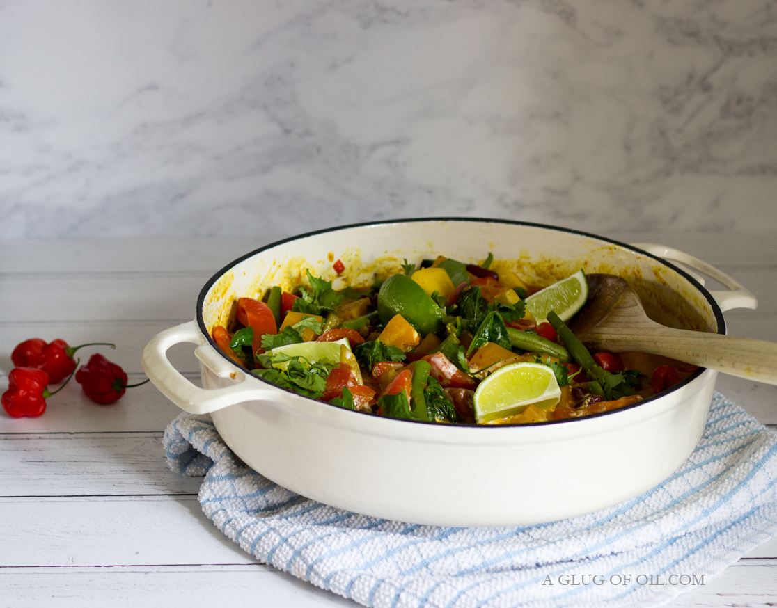 Caribbean Butternut and Mango Curry