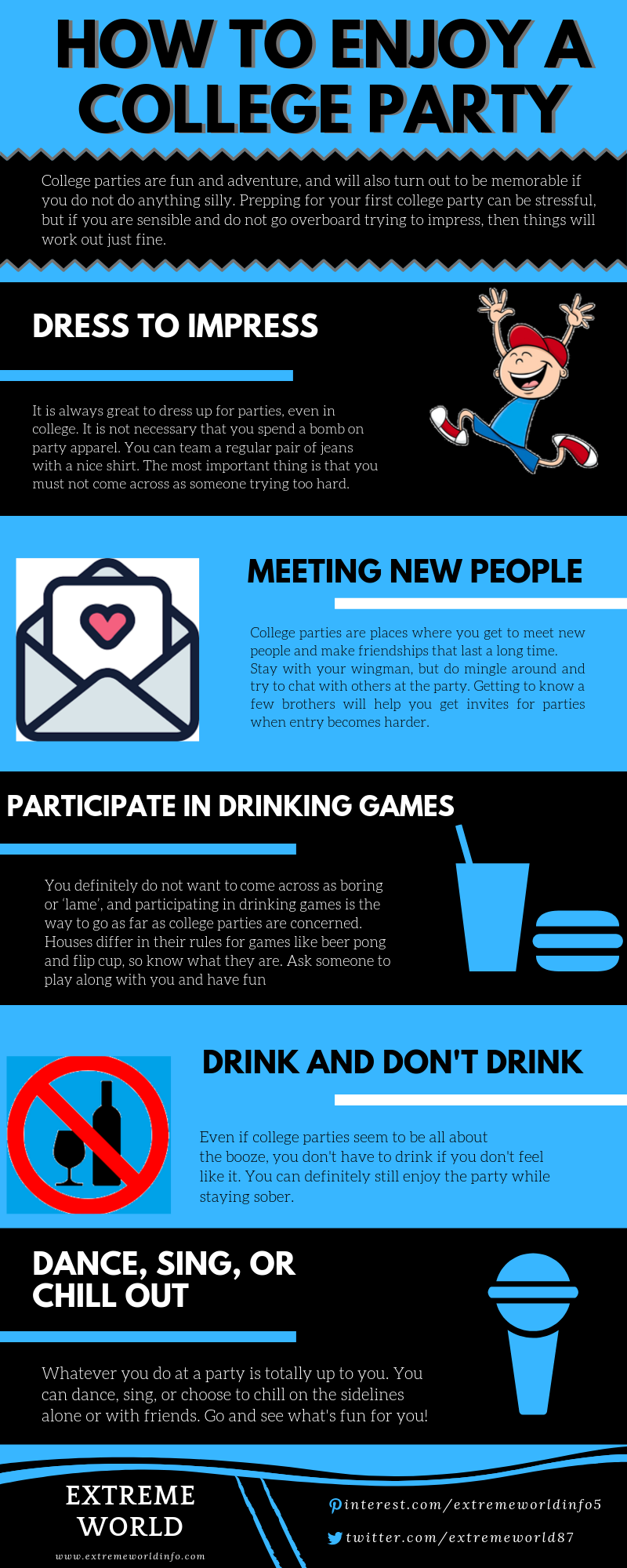 How to Enjoy a College Party #infographic