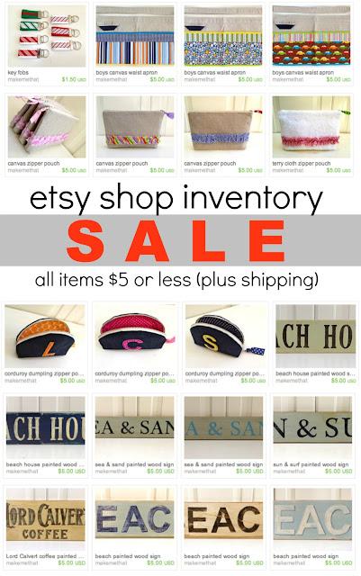 etsy shop inventory sale