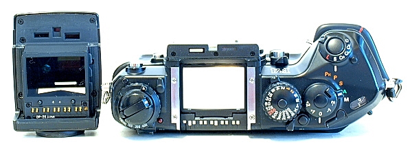Nikon F4, Top with DP-20 Head on its side