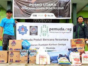 Pemuda dan STIE Hidayatullah Salurkan Bantuan Bencana Gempa Sulbar