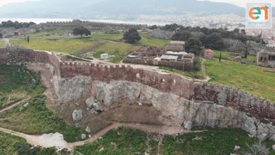 Ολοκληρώθηκε η αποκατάσταση μέρους των τειχών του Κάστρου Μυτιλήνης