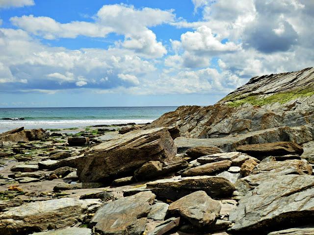 Rocks on Spit Beach, Par, Cornwall