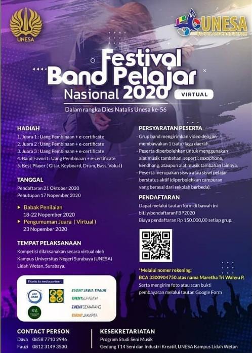 """""""Festival Band Pelajar Tingkat Nasional 2020"""" by Unesa"""