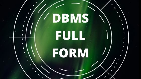 what is the full form of dbms in computer