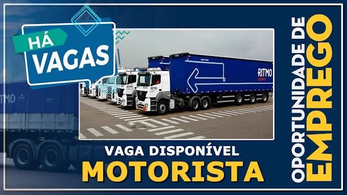 Transportadora Ritmo abre vagas para motorista carreteiro