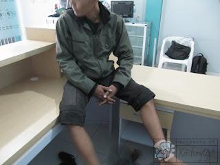 Meja Resepsionis Bentuk L Lengkung + Furniture Kantor Semarang