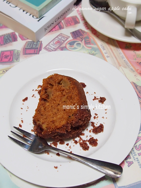 cake apel sangat mudah aroma kayu manis