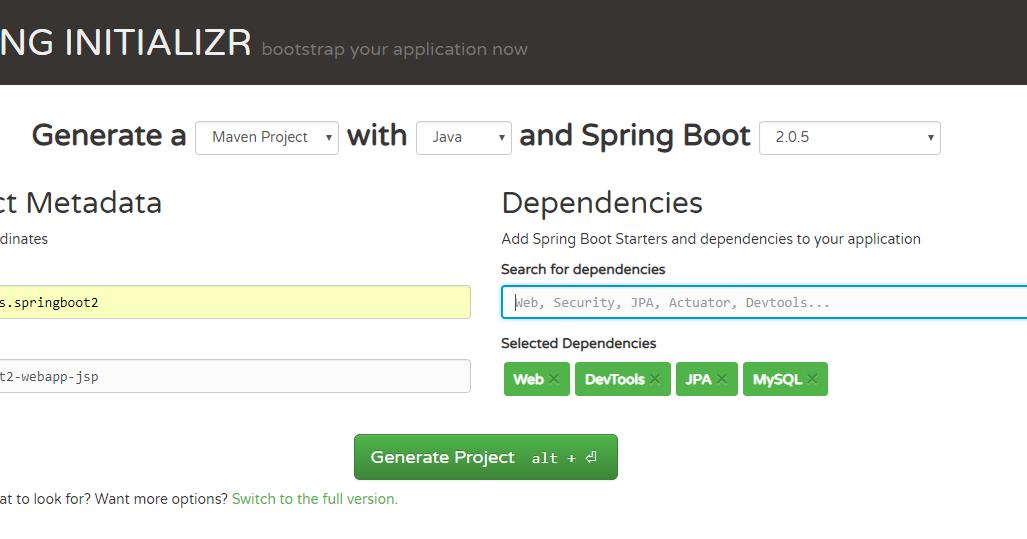 Spring MVC + Spring Boot2 + JSP + JPA + Hibernate 5 + MySQL