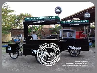 produksi gerobak susu sepeda unik