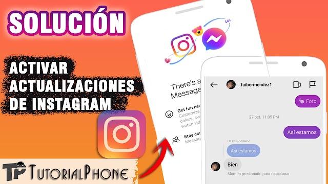 No me aparecen las nuevas funciones de Instagram - Solución