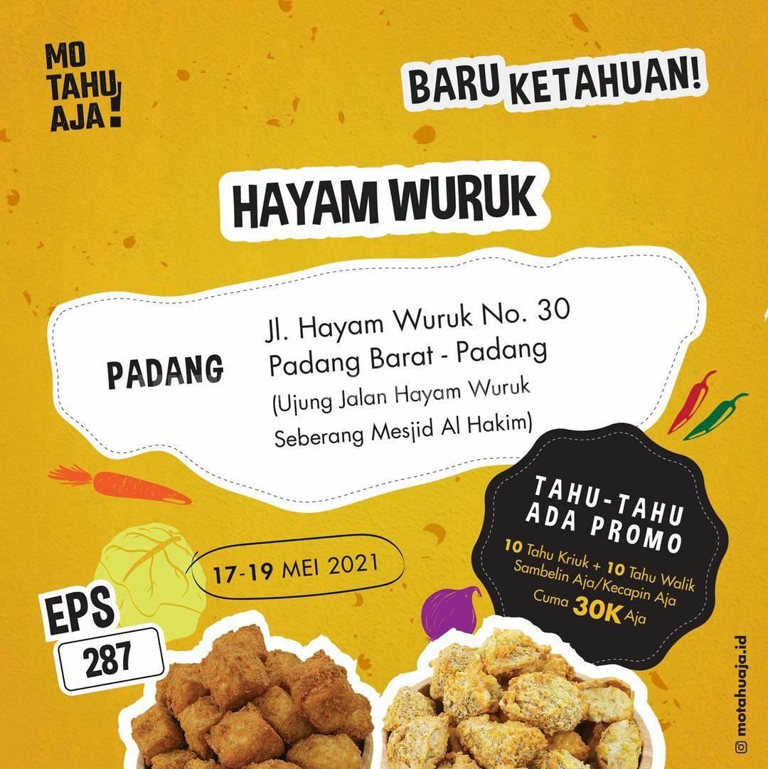 Promo Mo Tahu Aja Hayam Wuruk Padang Spesial Opening