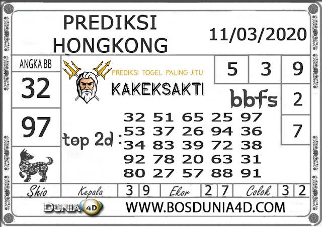 Prediksi Togel HONGKONG DUNIA4D 11 MARET 2020