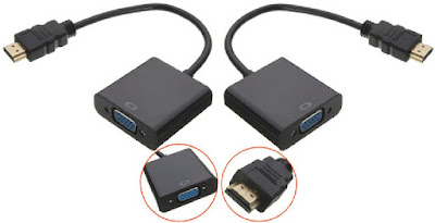 Video Audio HD Port Converter to VGA with Cable Wire Adapter