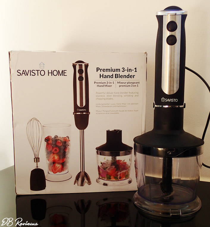 Savisto 3 in 1 Hand Blender Set with Attachments in Black