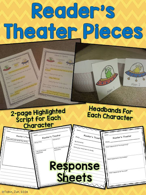 Readers Theater for primary students- practices reading, fluency, expression, and comprehension