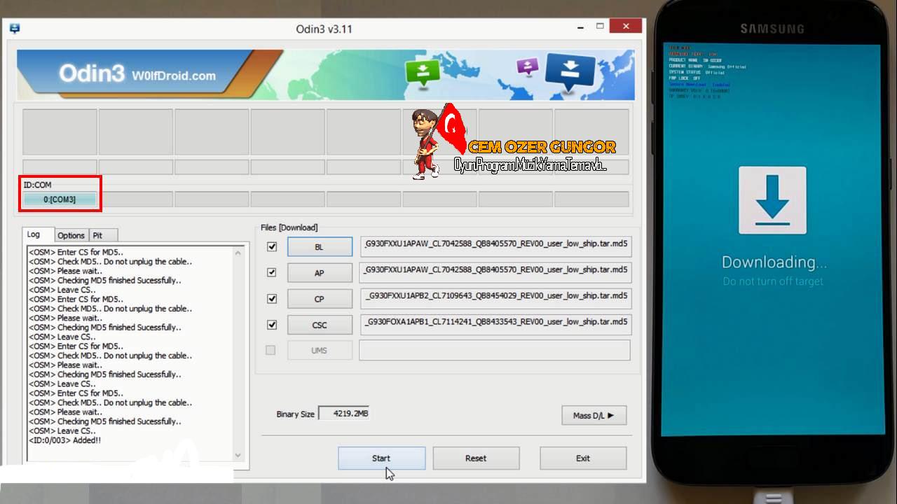 Samsung Telefonlara Orjinal Yazılım (ROM) Nasıl Atılır