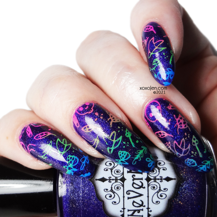 xoxoJen's swatch of Nevermind Purple Parade