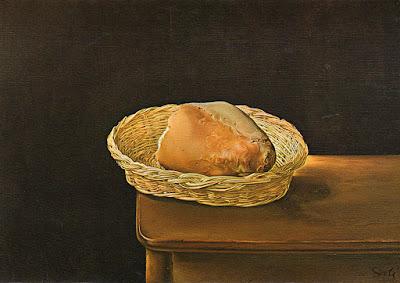 Postal, pan, Dalí, museo, Figueras