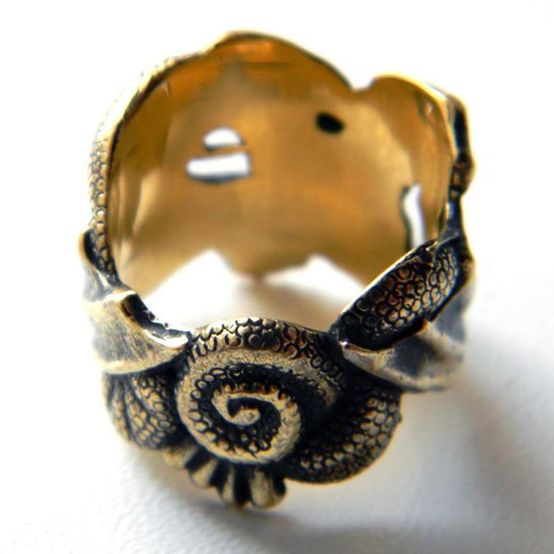купить кольцо дракон латунь серебро глюкоморье