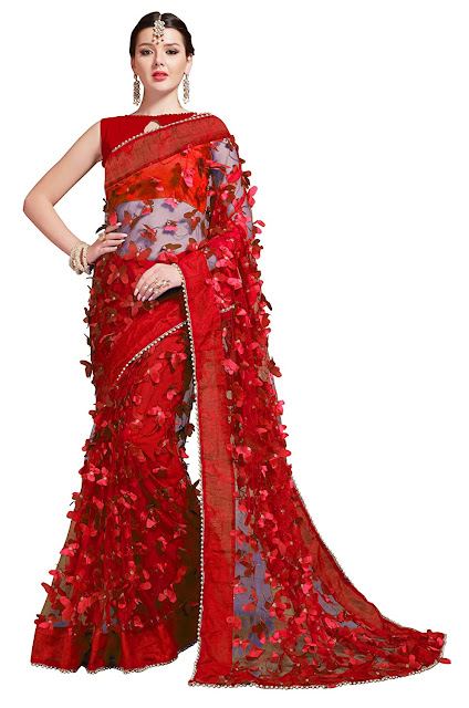 Butterfly design Sarees for Women