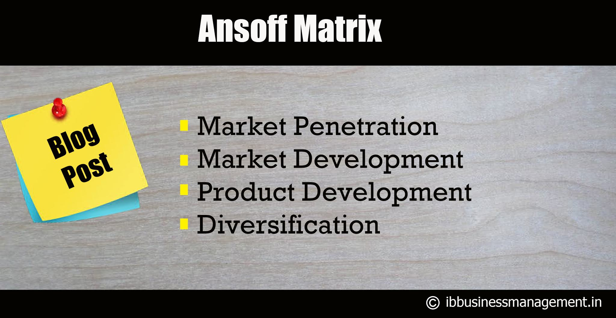 Ansoff Matrix - Business Analytical Tool for IB Business Management.