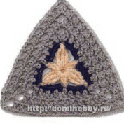 Triangulo a Crochet o Ganchillo