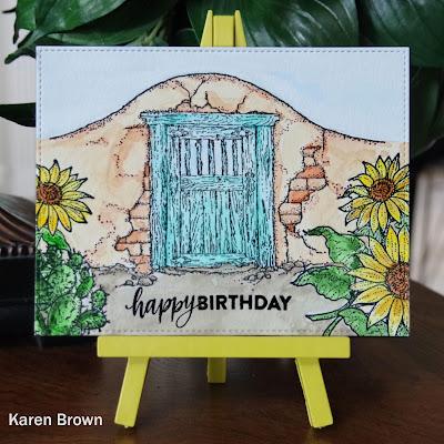 Handmade Santa Fe Style Birthday card
