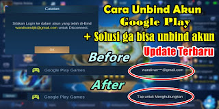 Cara Unbind Akun Google Play Mobile Legends Update Terbaru 2020