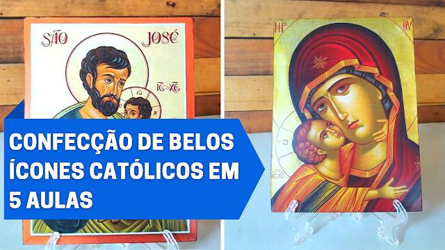 Curso para confecção de belos ícones católicos utilizando o método de colagem