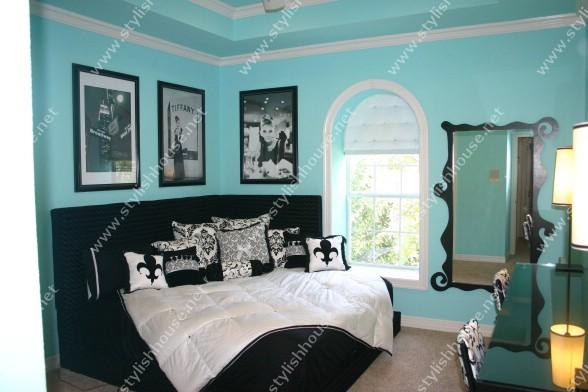 Wonderful Tiffany Blue Teen bedroom
