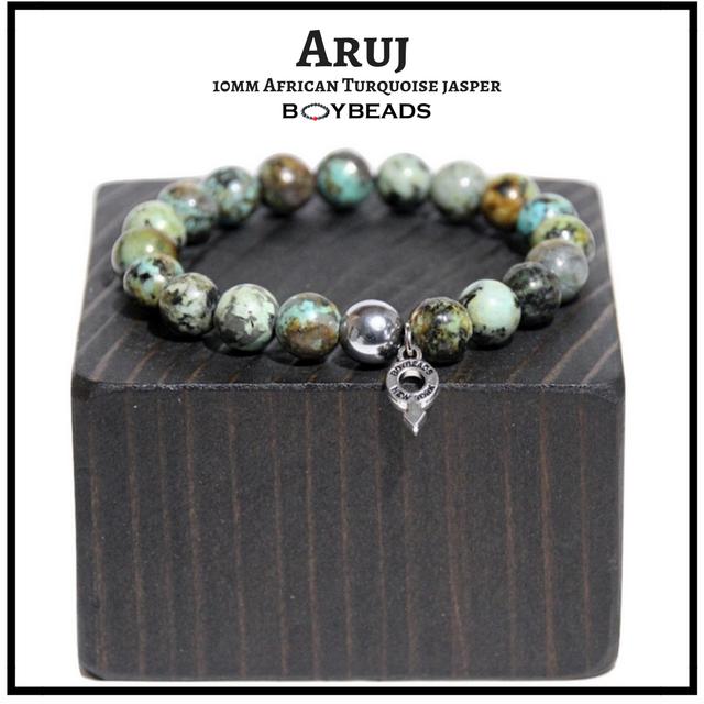https://www.boybeads.com/boybeads-aruj-blue-green-african-turquoise-jasper-10mm-bead-bracelet-for-guys-nyc/