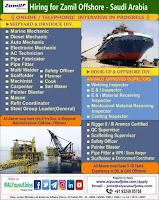 Hiring for Zamil Offshore Company Saudi Arabia