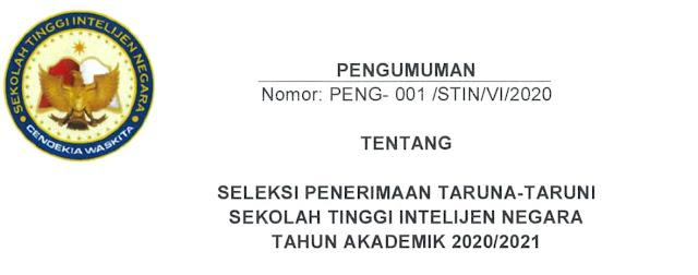 pendafatran taruna taruni stin tahun 2020 tomatalikuang.com