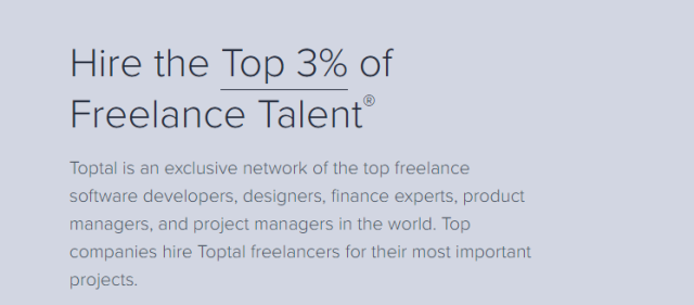 Toptal.com Freelancing Website