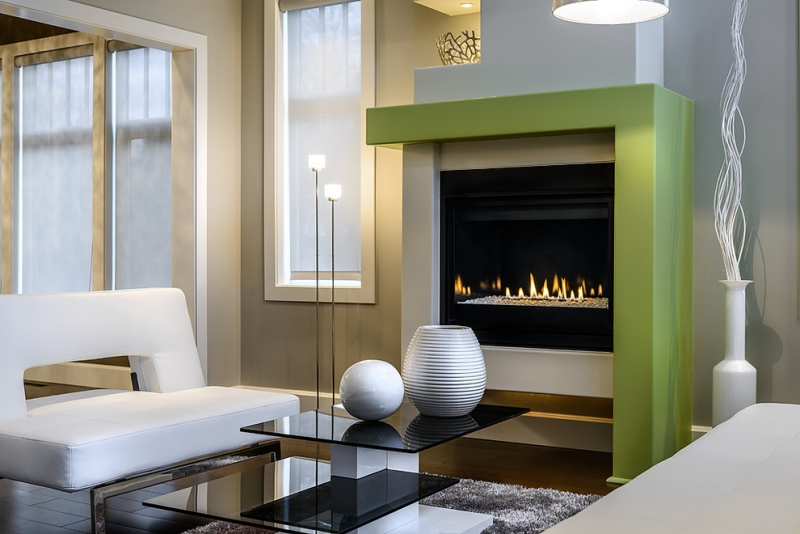 Salas modernas color chocolate hermosas fotos de salas - Chimeneas modernas ...