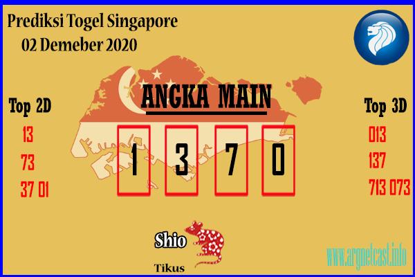 Angka Main Togel SGP 2 Desember 2020