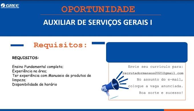 AUXILIAR DE SERVIÇOS GERAIS I