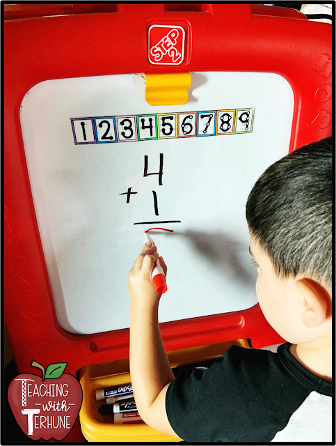 Using Touch Points When Solving Addition Problems