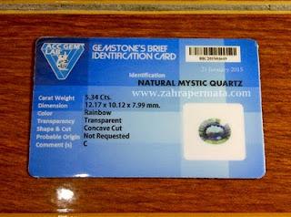 Batu Permata Mystic Quartz