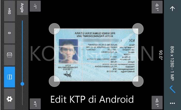edit ktp hp