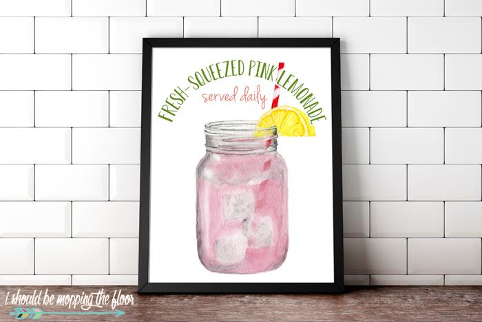 Printable Lemonade Sign