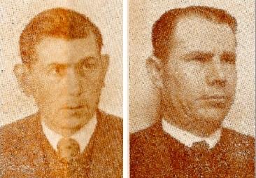 Los jugadores de damas Alfonso Cera y J. Badoch