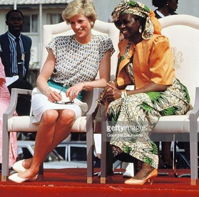 Maryam sitting next to Princess Diana of Wales