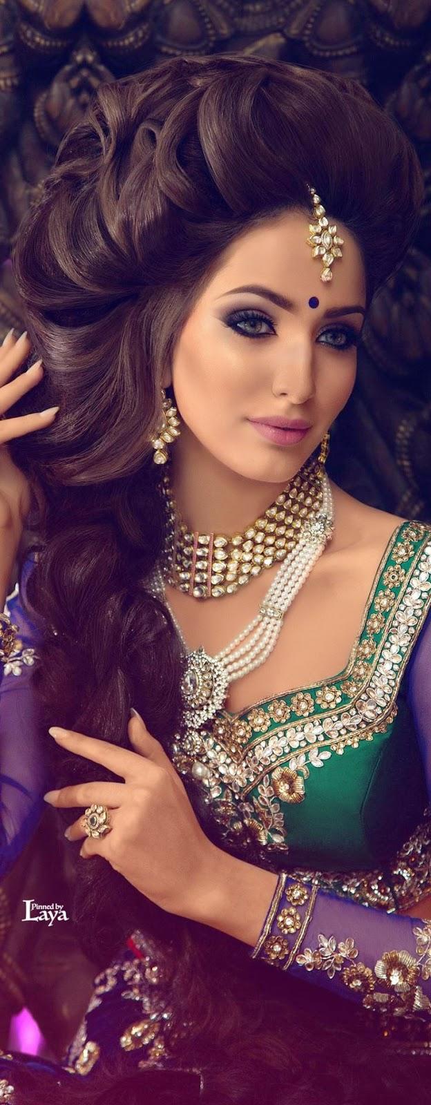 new indian bridal makeup photos 2015 - hair style