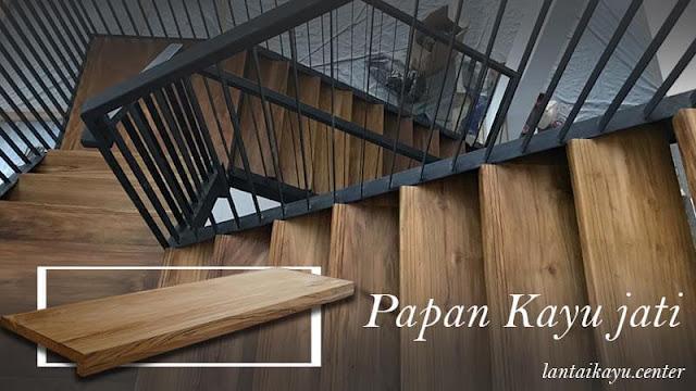 papan kayu tangga jati